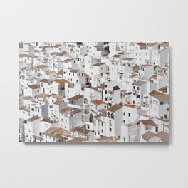 HOUSES - TALL - WHITE Metal Print