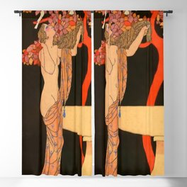 """""""Song of the Doves"""" by Georges Barbier Blackout Curtain"""