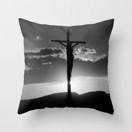 Christ of the Cross. Throw Pillow