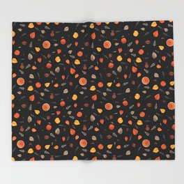 Apple spice (black coffee) Throw Blanket