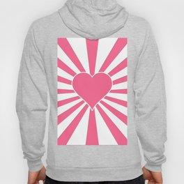 Midi Pink Valentine Sweetheart Sun rays Hoody