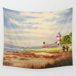 Harbor Town Golf Course 18th Hole South Carolina Wall Tapestry