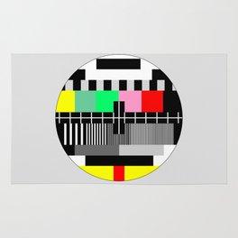 Retro color tv test screen Rug