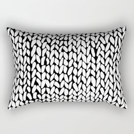 Hand Knitted Loops Rectangular Pillow