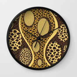 Cheetah Print Wall Clock