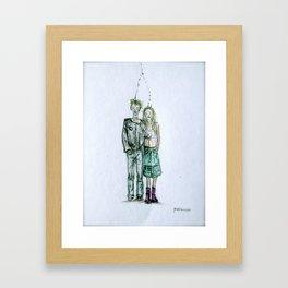 Connected. Framed Art Print