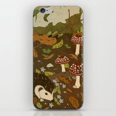 Woodland critters (sepia tone) iPhone & iPod Skin