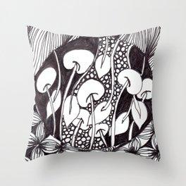 Zen Doodle Graphics zz17 Throw Pillow