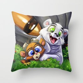 Cutest Heroes Ever! Throw Pillow