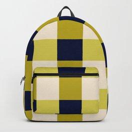 Gingham blueyellowgreen Backpack