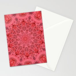 Pink paisly Stationery Cards