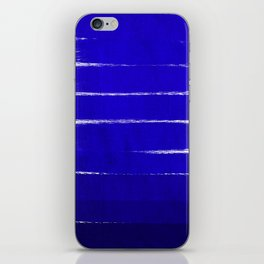 Shel - abstract painting painterly brushstrokes indigo blue bright happy paint abstract minimal mode iPhone Skin