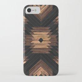 Urban Tribal Pattern No.7 - Aztec - Wood iPhone Case