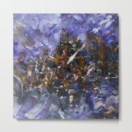 Intergalactic Battle Metal Print