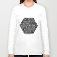 brussels Long Sleeve T-shirts featuring Brussels city map black colour by MCartography