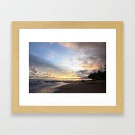 Sunset in Santa Teresa Framed Art Print