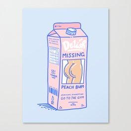 Missing Peach Bum Canvas Print
