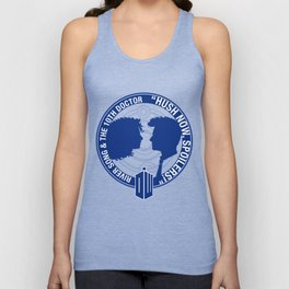 Doctor Who pals: The 10th doctor & River Song Unisex Tank Top