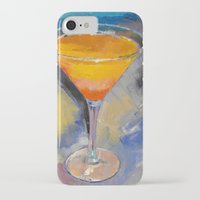 martini iPhone & iPod Cases featuring Mango Martini by Michael Creese