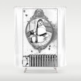asc 703 - L'énigme en chambre close (Locked-room mystery) Shower Curtain