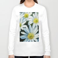 daisies Long Sleeve T-shirts featuring daisies by Barbro Paulsson
