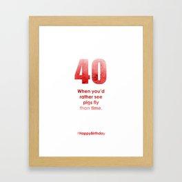 AgeIsJustANumber-40-StrawberryPopB Framed Art Print