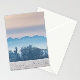 Spanish Peaks Fog Stationery Cards