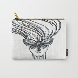 Girl with moth face Carry-All Pouch