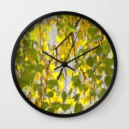 Birch Leaves 7165 Wall Clock