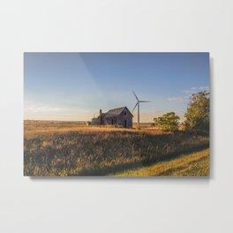 Falling Farm House, North Dakota 7 Metal Print