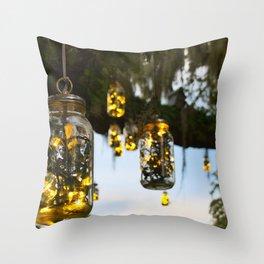 Cozy lights Throw Pillow