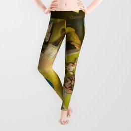The Seven Deadly Sins and the Four Last Things, 1500 by Hieronymus Bosch Leggings