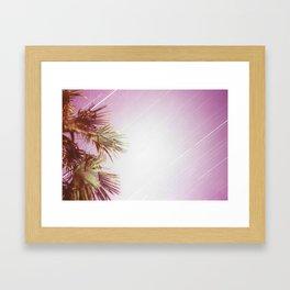 Purple night Framed Art Print