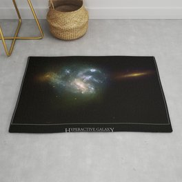 NASA Hubble Space Telescope Poster - Hyperactive Galaxy HGC 7673 Rug