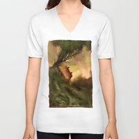 wind V-neck T-shirts featuring Wind by Iris V.
