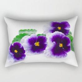 beautiful purple pansy Rectangular Pillow