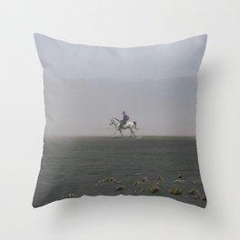 BROMO HORSE RIDER II Throw Pillow