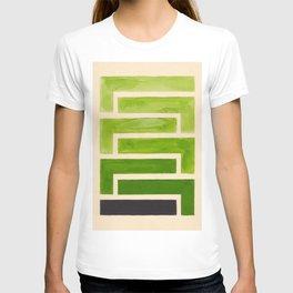 Sap Green Geometric Watercolor Painting T-shirt