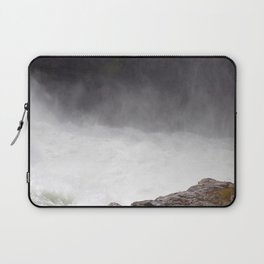 Mist Rising From the Rapids, Churning Water, Fast Moving River Laptop Sleeve