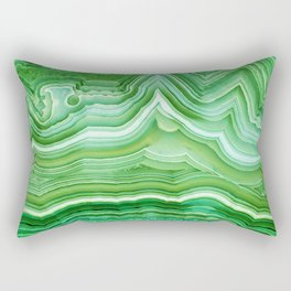 Agate crystal green Rectangular Pillow