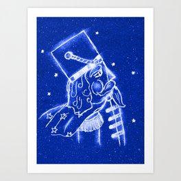 Nutcracker in Bright Blue Art Print