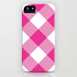 Gingham - Pink iPhone Case