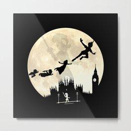 Peter Pan FullMoon Over London Metal Print
