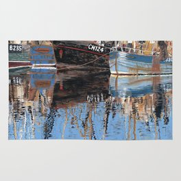 Reflections of Porthleven Harbour  Rug