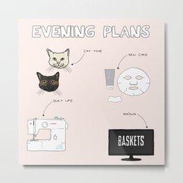 Evening Plans Metal Print