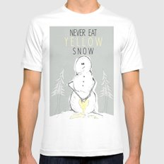 Never Eat Yellow Snow Mens Fitted Tee White MEDIUM