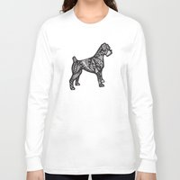 boxer Long Sleeve T-shirts featuring Boxer by creative.court
