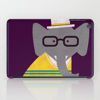 preppy iPad Cases featuring Rodney the preppy elephant by Picomodi