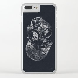 Macaque Diver Clear iPhone Case
