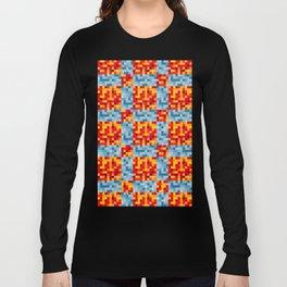 Hot & Cold Pixels Long Sleeve T-shirt